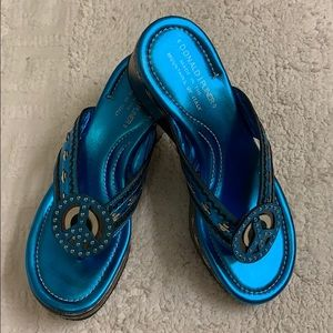 Donald J Pliner Sidra Wedge Thong Sandals 6.5